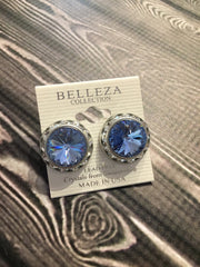 Belleza Collection - Swarovski Crystals Pierced Earrings - 20MM - XL
