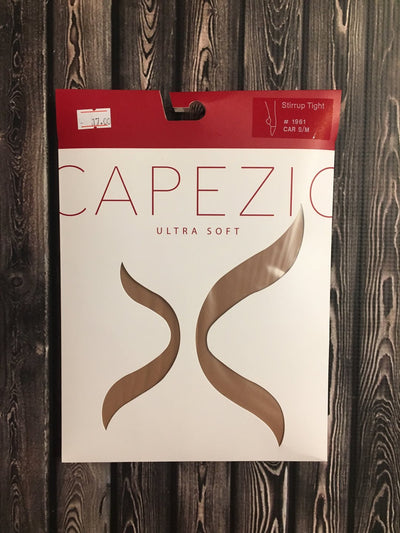 Capezio Self Knit Waist Stirrup Tights (1961X, 1961C, 1961) - Caramel (GSO) /
