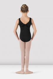 Bloch - Devant Gathered Front/Back Tank Leotard - Child (CL5435) - Black (EDN) /