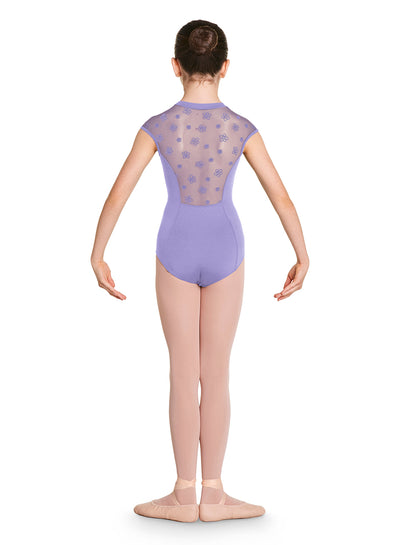 Bloch - Zip Front High Neck Mesh Back Leotard - Child (CL8762) - Lilac *