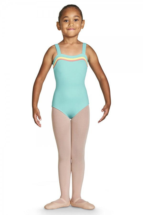 Bloch - Teagan Sweetheart Wide Strap Leotard - Child (CL8797) - Blue Radiance *