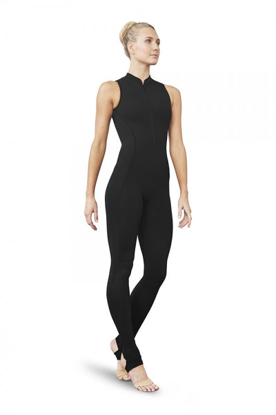 Bloch - Zip Front Open Back Stirrup Unitard - Adult ( FM5151) - Black #