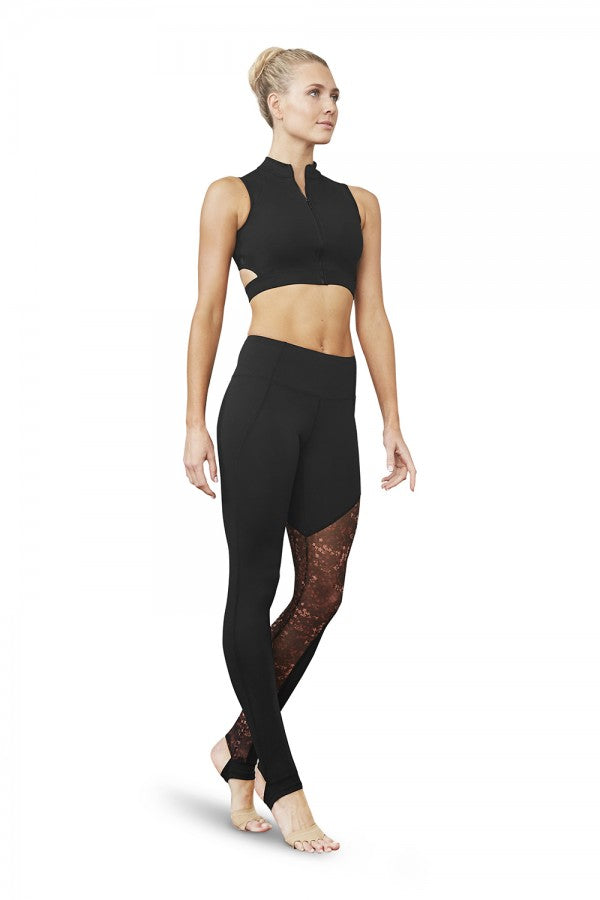 Bloch - Zip Front Mesh Long Crop - Adult (FT5141) - Black #