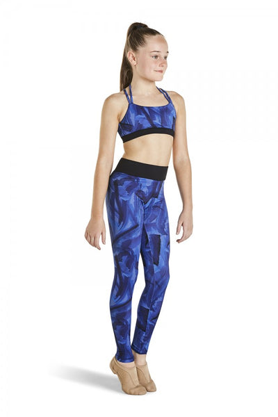 Kaia by Bloch - Printed Legging Constrast Band - Child (KA028P) - Mystik #