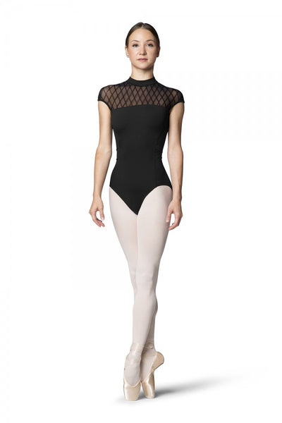 Bloch Zip Back Cap Sleeve Leotard - Adult (L9922) - Black