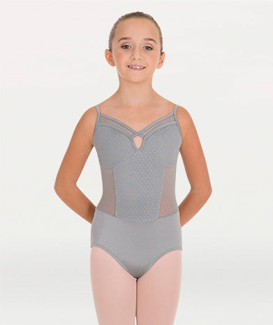 Body Wrappers - Pointelle Mesh Bustier Leotard - Child/Adult (P1182) - Steel *