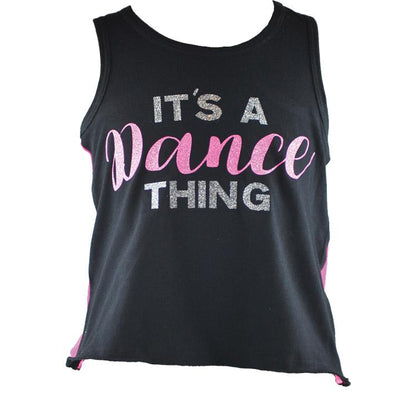 Reflectionz - It's a Dance Thing Tank - Child - Pink Sparkle *