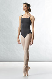 Bloch - Tween Kora Mesh Motif Back Detail Camisole Leotard - Tween (TWL8777) - Pewter *