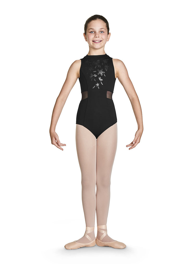 Bloch - Adrika Zip Back Tank Leotard - Child (CL4930) - Black *