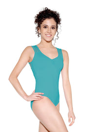 SoDanca - Mesh Back Tank Leotard - Adult (D-1647ME) - Emerald Green *
