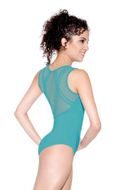 SoDanca - Mesh Back Tank Leotard - Adult (D-1647ME) - Emerald Green (EDN)