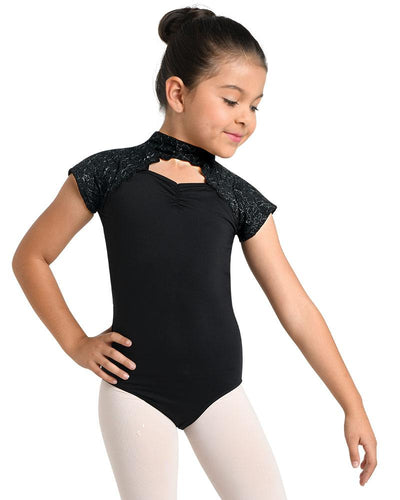 Danz N Motion - Dress to Impress Cap Sleeve Leo - Child (19124C) - Black *