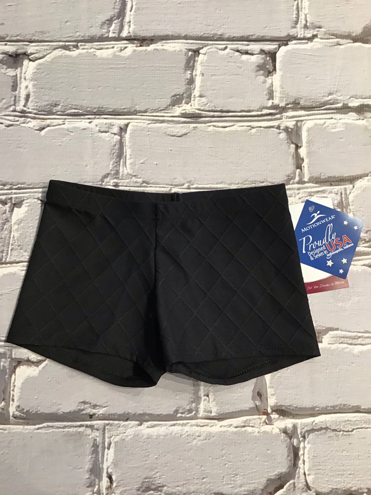 Motionwear - Relaxed Fit Low Rise Quilted Shorts - Child/Adult (7917) - Black (324)