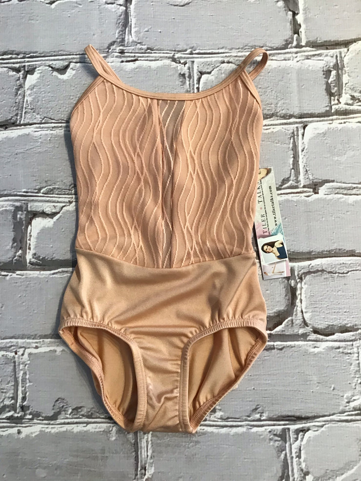 Body Wrappers - Wavy Lines Mesh Camisole Leotard - Child/Adult (P1092) - Peach #