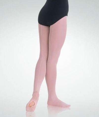 Body Wrappers - TotalSTRETCH Covertible Tights with Backseam - Child/Adult (C45/A45) - Theatrical Pink (GSO) /