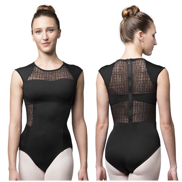 Bloch Zip Back Cap Sleeve Leotard - Adult (L9812) - Black