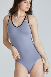 Jo + Jax - Pulse Leotard - Child/Adult (PLL) - Silver Lilac/Black (GSO) /