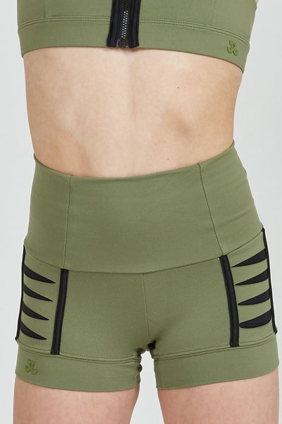 Jo + Jax - Pulse Shorts - Child/Adult (PLS) - Army/Black