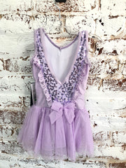 Danz N Motion - Sequin Flower Tank Dress - Child (19206C) - Lavender *
