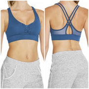 Bloch - Freedette Lace-Up X Back Mesh Crop Top - Adult (FT5106) - Waterfall #