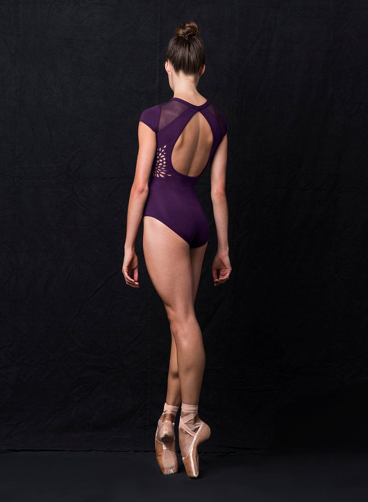 Jozette for Mirella - Cut Out Cap Sleeve Leotard - Adult (MJ7209) - Mystery *