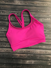 Bloch Melina Mesh Keyhole X Back Tank Crop - Adult (FT5007) - Azalea