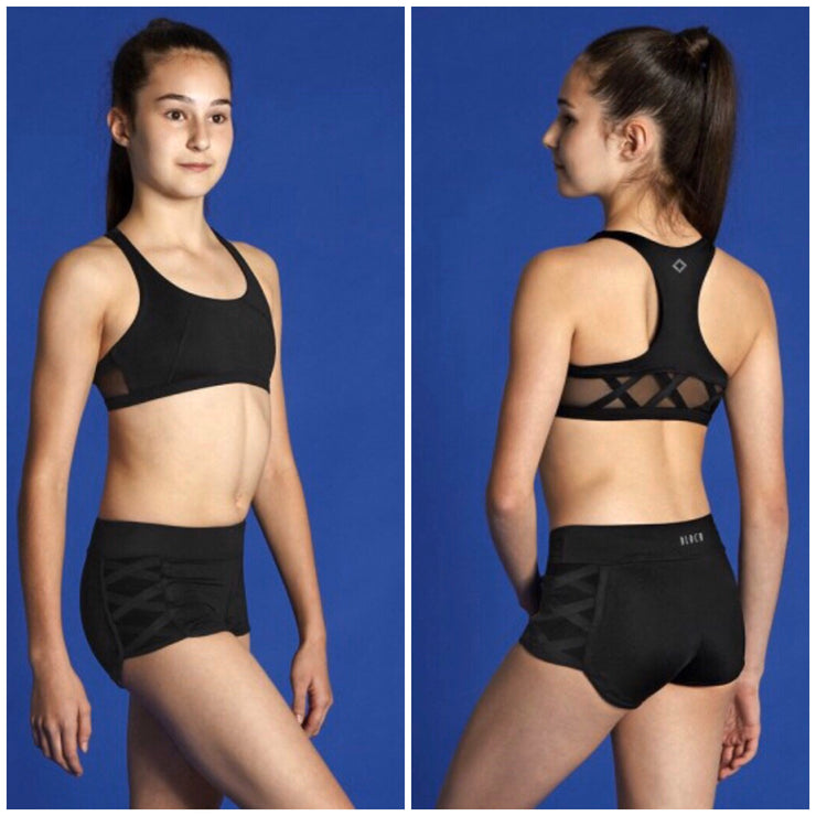 Bloch Moves - Criss Cross Crop Top - Child (BM210T) - Black #