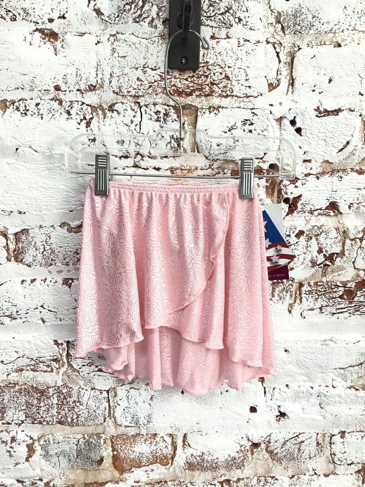 Motionwear - Pull on Wrap Skirt - Child (1328-219) - Pink Rose Lace *