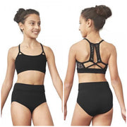 Bloch - Strappy Mesh Back Crop Top - Child (FT5168C) - Black #
