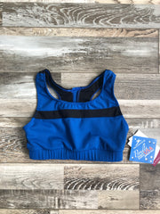Motionwear - Devon Inset Stripe Racerback Bra - Child/Adult (3231-596) - Ocean Blue Moss Interlock *