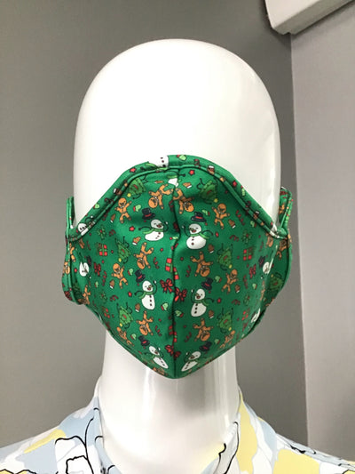 SoDanca - Holiday Fitted Face Masks - Child (L2177-SB902) - Green #
