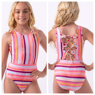 Sylvia P - Gypsy Stripe Leotard - Child/Adult - Multicolor Stripe *
