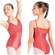 SoDanca - Mesh Insert Tank Style Leotard - Child/Adult (L-2057LC/RDE-2061LC) - Spiced Coral #