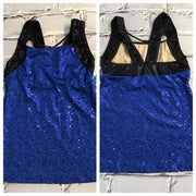Motionwear - Blue and Black Bling Tank Top - Adult(3719) - 424 - FINAL SALE