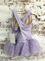 Capezio - Floral Mesh Tank Dress - Child (11123C) - Lavender *
