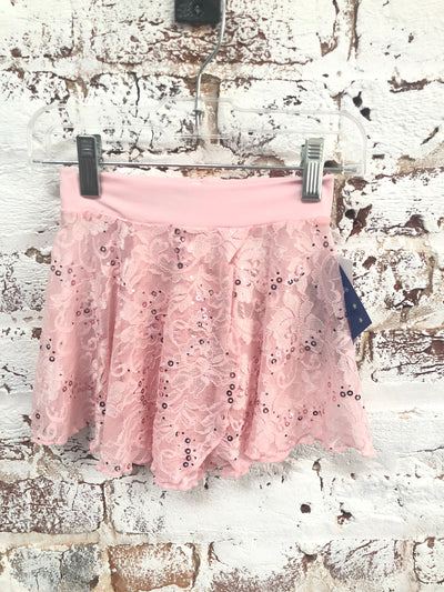 Motionwear - Pull-on Wrap Skirt Sequin Lace - Child (1011-327) - Pink *