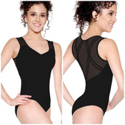 SoDanca - Mesh Back Tank Leotard - Adult (D-1647ME) - Black *