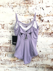Bloch - Bow Mesh Bodice Bow Back Cami Leotard - Child (CL9957) - Lilac *