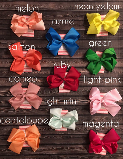 Hair Bows - Solid -  Various Colors