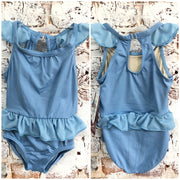 Motionwear - Gather Front Flutter Peplum Leo - Child (2960-445) - Light Blue *