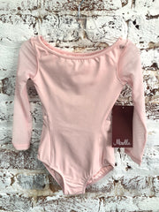 Mirella - Mesh Open Back Long Sleeve Leotard - Child (M113C) - Pink (damaged) *