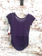 Motionwear - Cap Sleeve Zip Front V-Neck Leotard - Child/Adult (2514-227) - Plum *