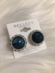 Belleza Collection - Swarovski Crystal Clip-On Earrings - 20MM - XL #