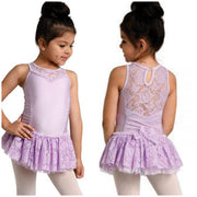 Danz N Motion - Lace Yoke Bow Back Dress - Child (2736C) - Lavender *
