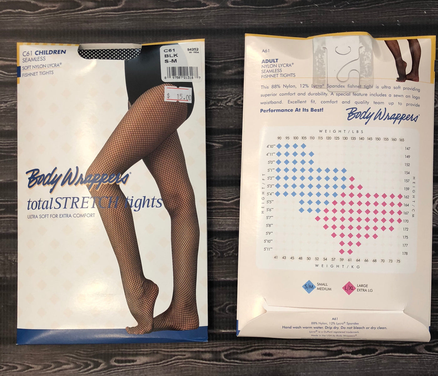 69d75ca65de79 Body Wrappers totalSTRETCH® Seamless Fishnet Tights - Child/Adult (C61/A61)  - Black
