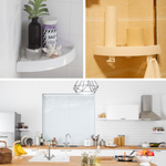 Corner Storage Holder Shelves For Bathroom & Kitchen