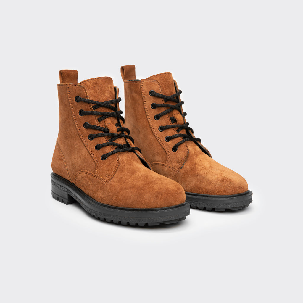 TDleatherboots GUZO TAN SUEDE