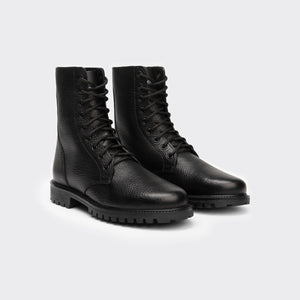 TDleatherboots KEFF HIGH BLACK EMBOSSED