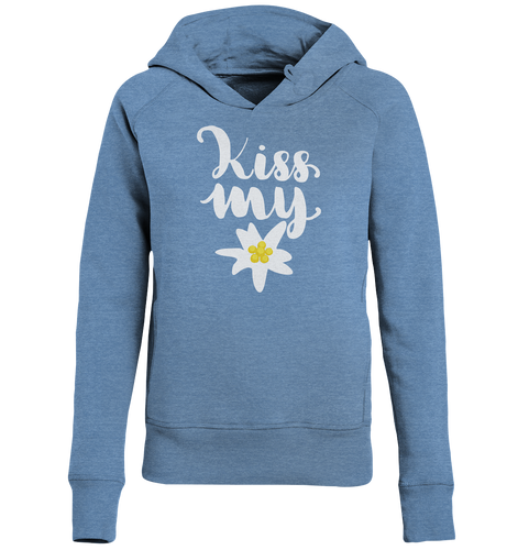 Kiss my Edelweiss Trachten-Ladies Organic Hoodie - Shirtista