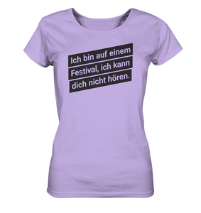 Damen Festival T-Shirt - Ladies Organic Shirt